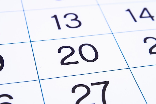 Zamknij stronę kalendarza.