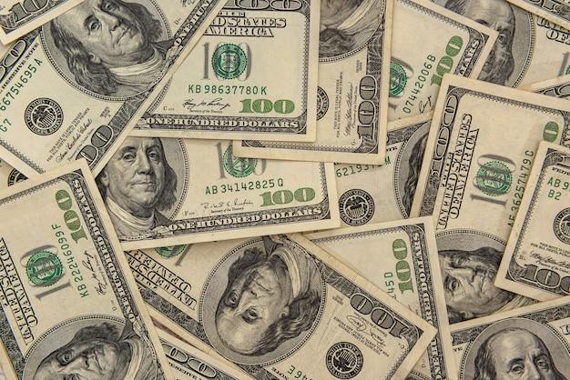 Zamknij widok banknotów pieniędzy