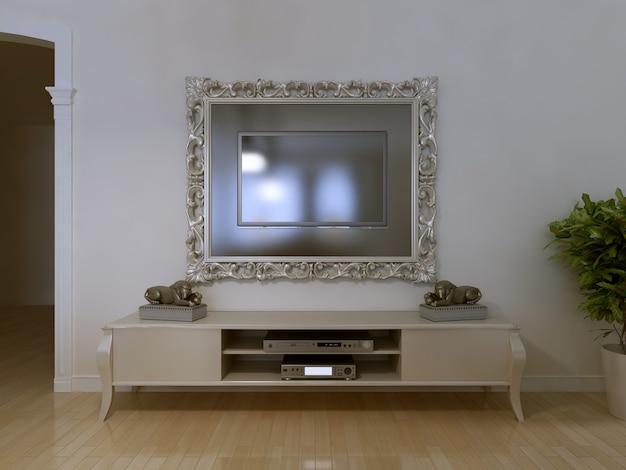 Zamontowany w telewizorze z ramą kosmetyczną