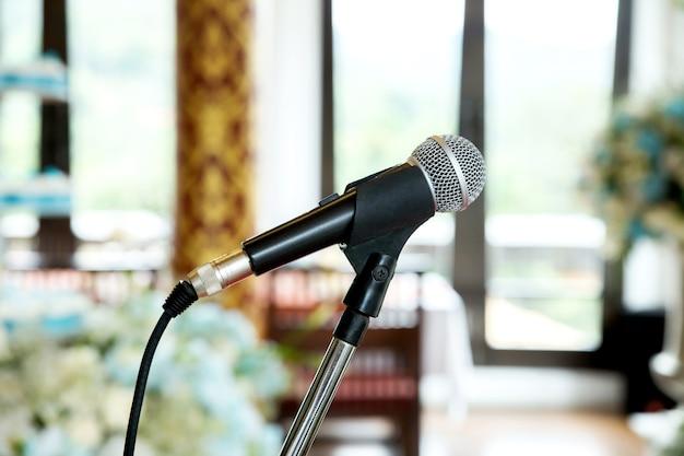 Zamyka mikrofon na wydarzenie przedstawieniu