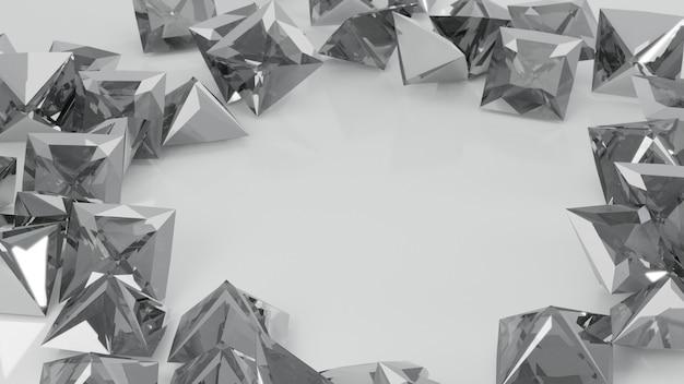 Zamyka up białego princess rżnięty diament na białym tle