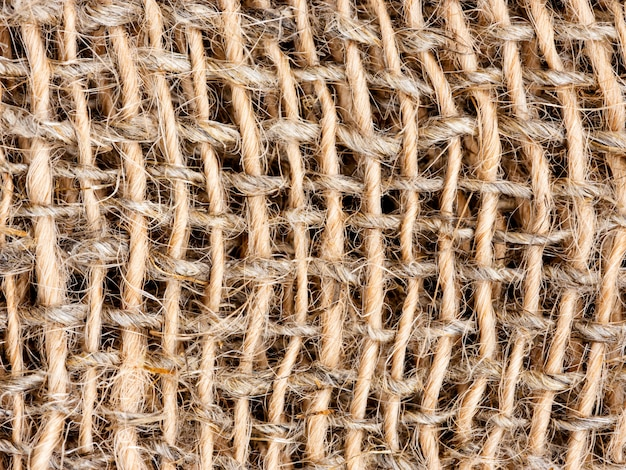 Zamyka up burlap lub parciany tekstury tło