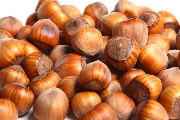 Zamyka up hazelnuts orzech włoski