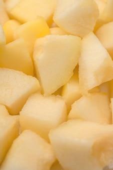 Zamyka up różni plasterki melon