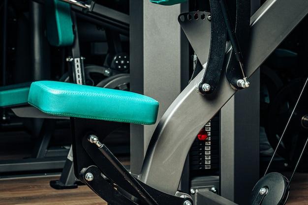 Zamyka w górę fotografii nowy wyposażenie gym