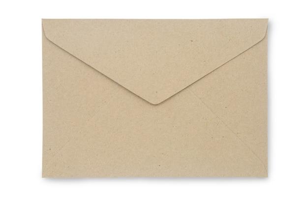 Zamyka w górę kraft papieru koperty odizolowywającej