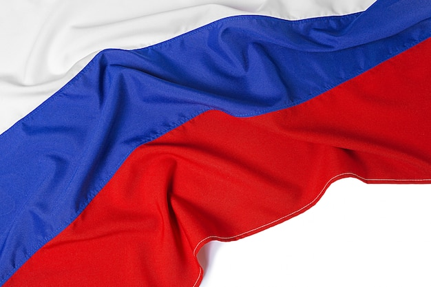 Zamyka w górę strzału falista flaga rosja