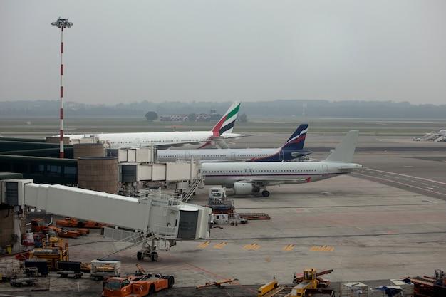 Zaparkowane samoloty