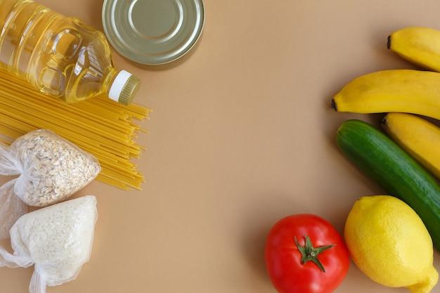 Zapas żywności zestaw niezbędnych rzeczy