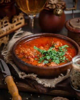 Zapiekanka mięsna z ostrym sosem