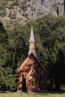 Zapierające dech w piersiach zdjęcie parku narodowego yosemite w kalifornii, usa