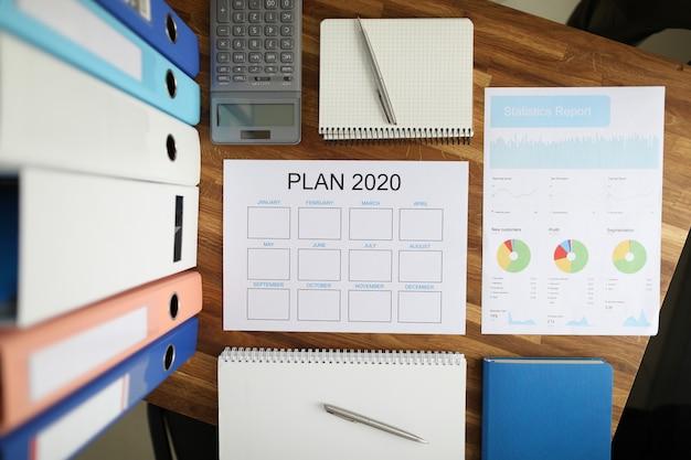 Zaplanuj dokument i statystyki 2020