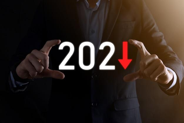 Zaplanuj ujemny wzrost biznesowy w koncepcji roku 2021