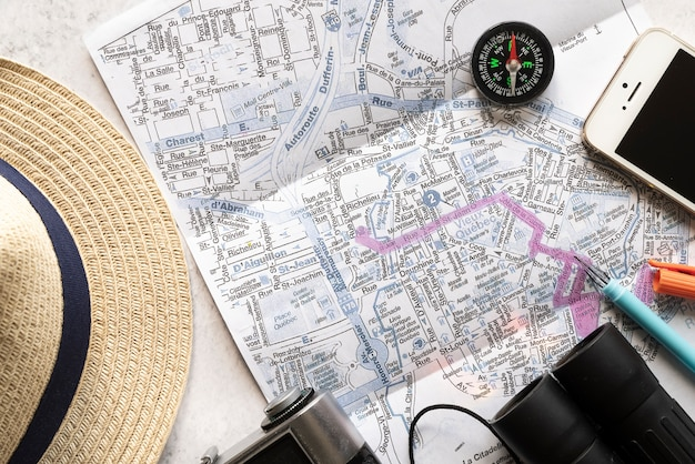 Zaprojektowana trasa na wakacje