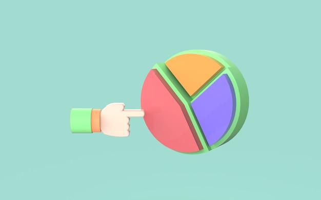 Zaprojektuj wykres kołowy ładny ilustracja diagram biznes marketing 3d render