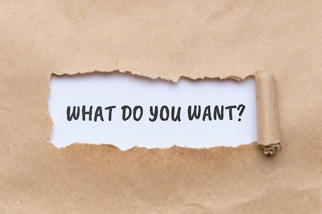 Zapytaj, co chcesz na papierze rzemieślniczym
