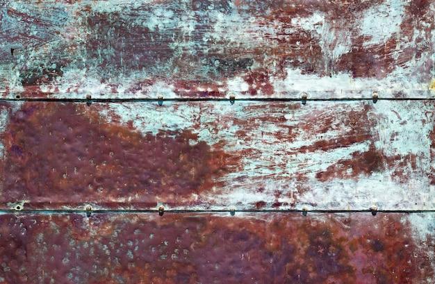 Zardzewiałe niebieskie brązowe żelazne tło