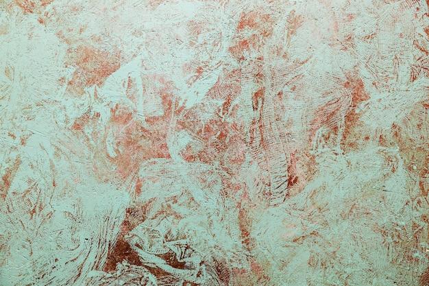 Zardzewiały kolorowy metal z pękniętą farbą, tło grunge. metal malowany w starożytności