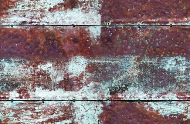 Zardzewiały niebieski brązowy żelazny bezszwowe tło bezszwowe tło
