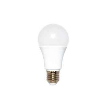 Żarówka led samodzielnie na białym tle oszczędność energii oświetlenie