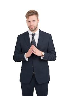 Zarządzaj lepiej. kierownik projektu na białym tle. kierownik biura w stroju wizytowym. formalny styl mody. trendy w projektowaniu włosów. fryzjer. prowadzenie biznesu. kadra zarządzająca. umiejętności menedżerskie w pracy.