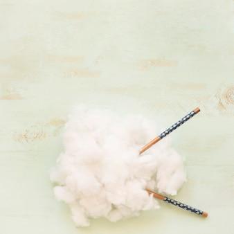 Zasięrzutny widok chmura z chopsticks