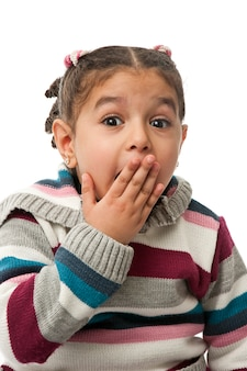 Zaskoczona dziewczynka