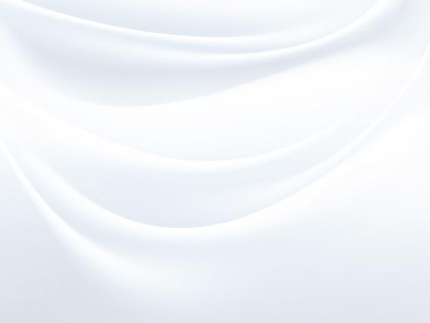 Zasłona z białej satynowej tkaniny jako tło
