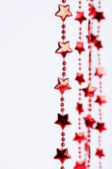 Zasłony świąteczne czerwone gwiazdy