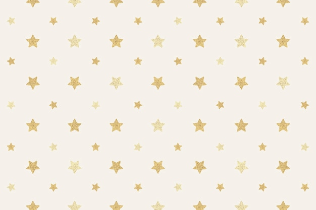 Zasób projektu tła bez szwu błyszczących złotych gwiazd