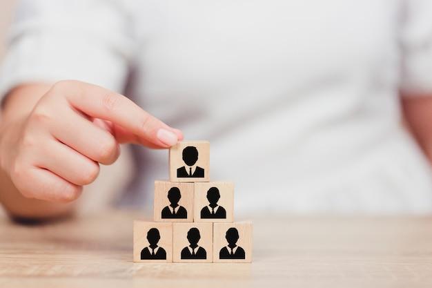 Zasoby ludzkie dla biznesu ręcznego, pracownik rekrutacyjny i talent