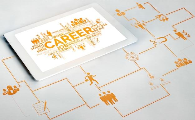 Zasoby ludzkie i ludzi networking concept