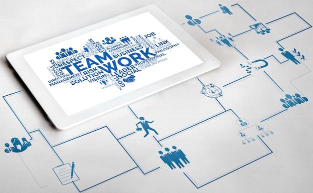 Zasoby ludzkie i ludzie networking concept