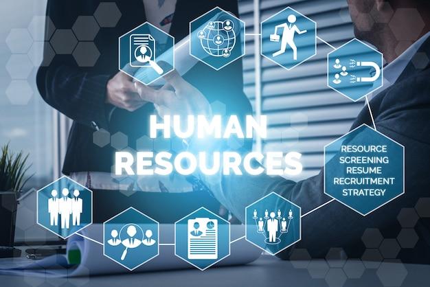 Zasoby ludzkie i ludzie networking tło