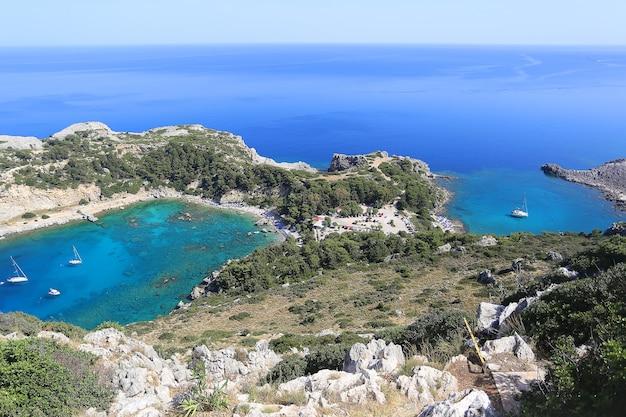 Zatoki anthony'ego quinna i zatoki ladiko, rodos, grecja