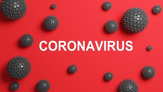 Zatrzymaj koncepcję koronawirusa i kwarantanny. ilustracja medyczna 3d
