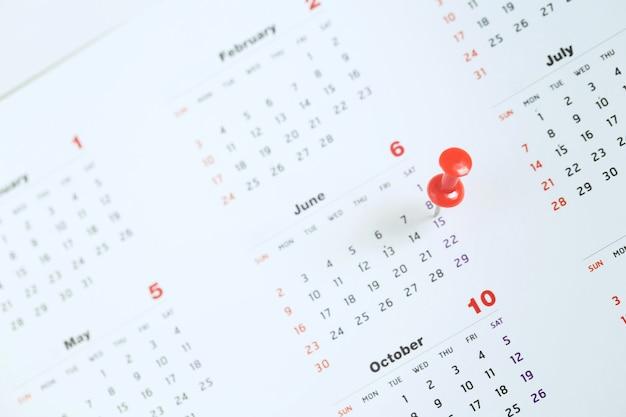 Zaznacz Dzień Wydarzenia Szpilką. Premium Zdjęcia