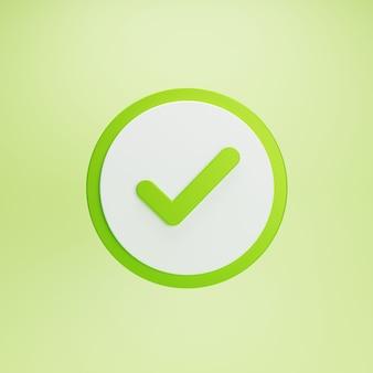 Zaznacz przycisk zaznaczenia i zatwierdzony symbol