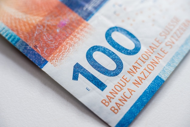 Zbieranie pieniędzy na świecie. fragmenty szwajcarskich pieniędzy