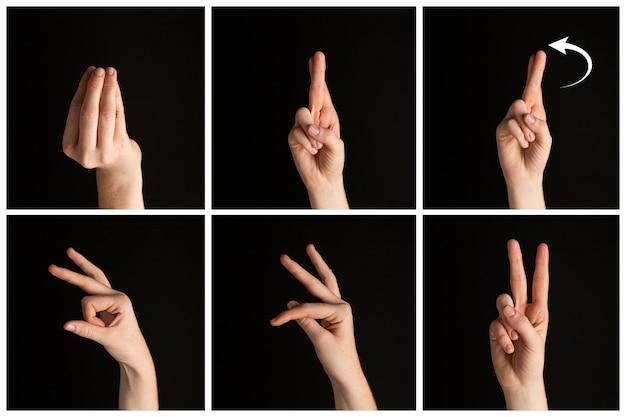 Zbiór gestów dłoni dla języka migowego