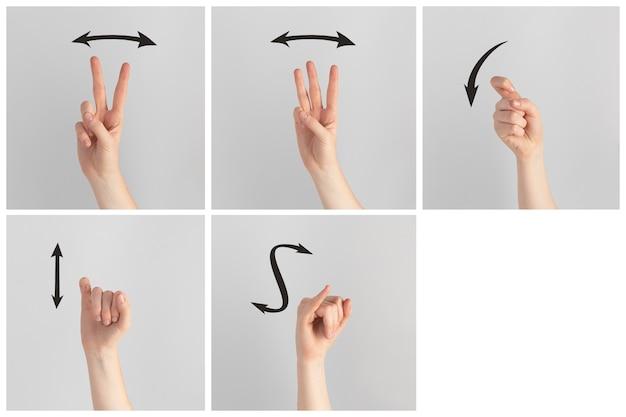 Zbiór gestów rąk w języku migowym