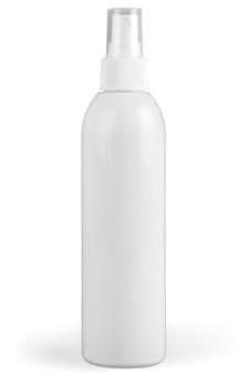 Zbiór różnych pojemników higieny urody na białym tle. każdy jest kręcony osobno