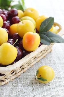 Zbiór świeżych owoców w koszu
