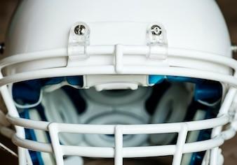 Zbliżenie futbolu amerykańskiego hełm