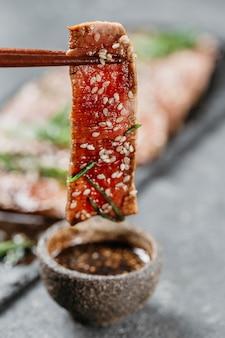 Zbliżenie asortyment japońskiej żywności