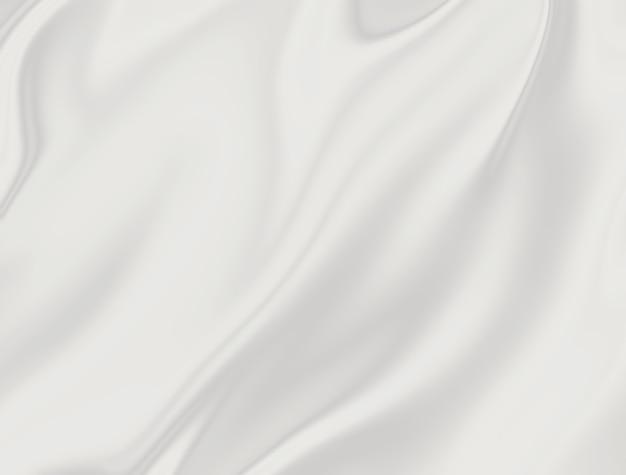 Zbliżenie białej satynowej tkaniny jako tła