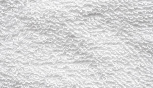 Zbliżenie biały ręcznik bawełniany tekstura streszczenie ściana