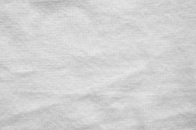 Zbliżenie biały ręcznik bawełniany tekstura tło