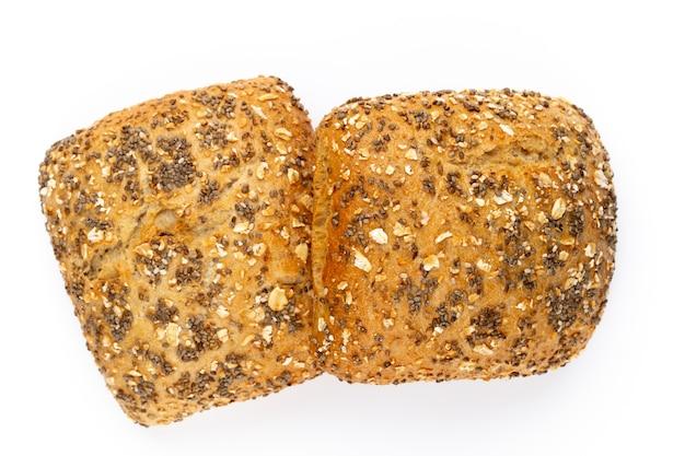Zbliżenie chleba na jasnym tle