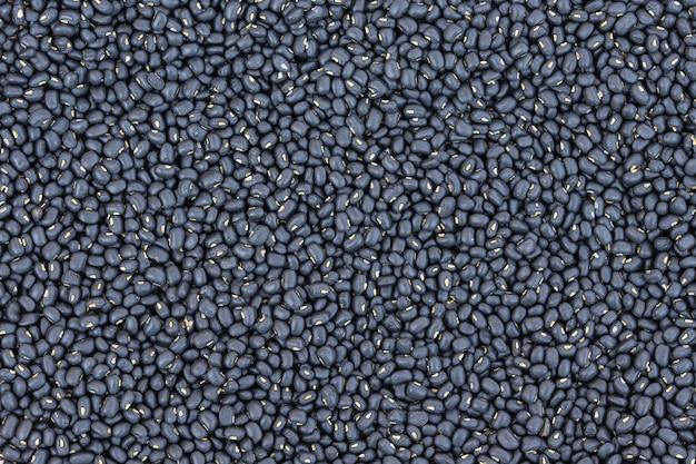 Zbliżenie czarnej fasoli tekstura dla tła.